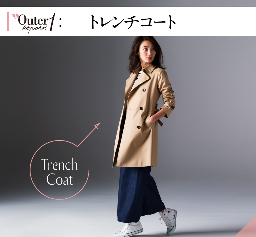 Outer keyword1 トレンチコート Trench Coat