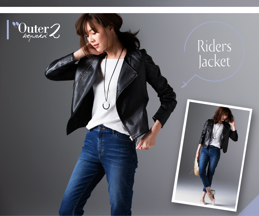 Outer keyword2 Riders Jacket