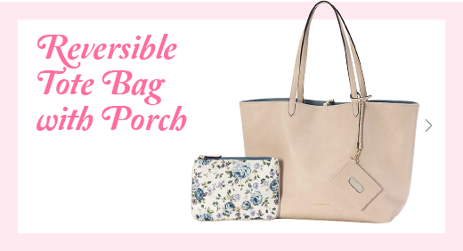 Reversible Tote Bag with Porch