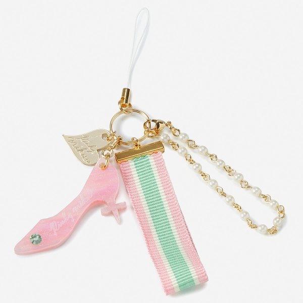 [マルイ] 【Pinkymika】TOGEハイヒール×トリコロールリボンのチャーム【LoliiShop】/ロリィ(Lolii)