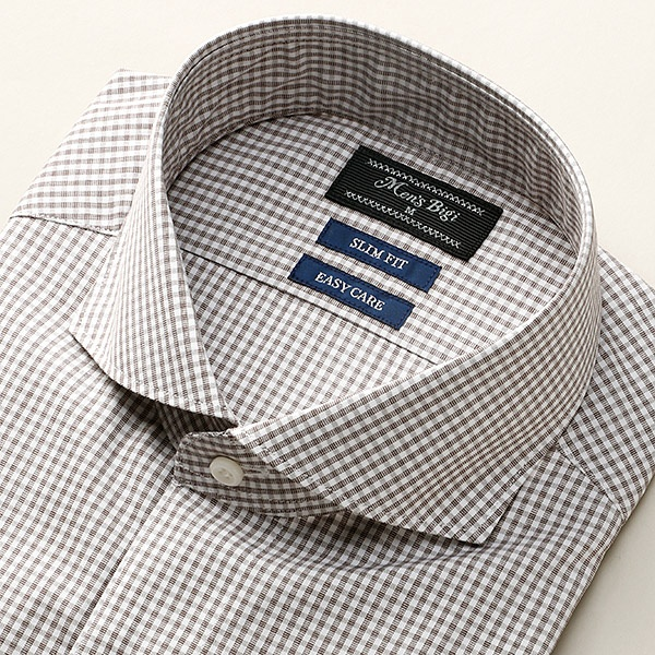[マルイ] ビジネスシャツ/ ワイシャツ (チェック柄)スリムフィット/メンズビギ(MEN'S BIGI)