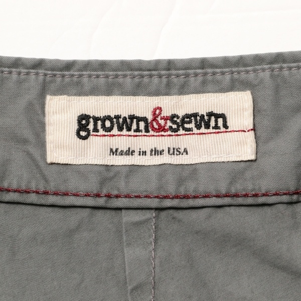 "GROWN&SEWN: ""HAMPTON"" スリム ショーツ"