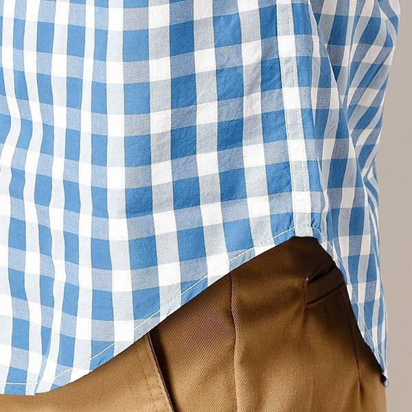 ラコステ オックスフォードチェックシャツ(半袖)