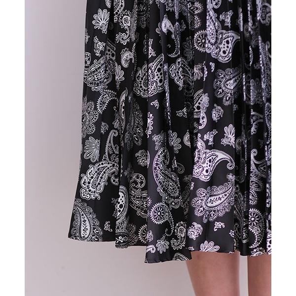 オリジナルペイズリープリーツスカート