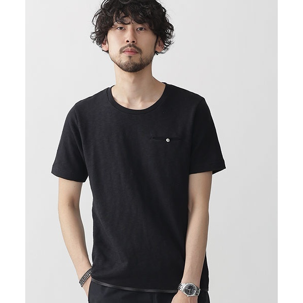 【2017SS】ムラ糸天竺裾パイピングTシャツ