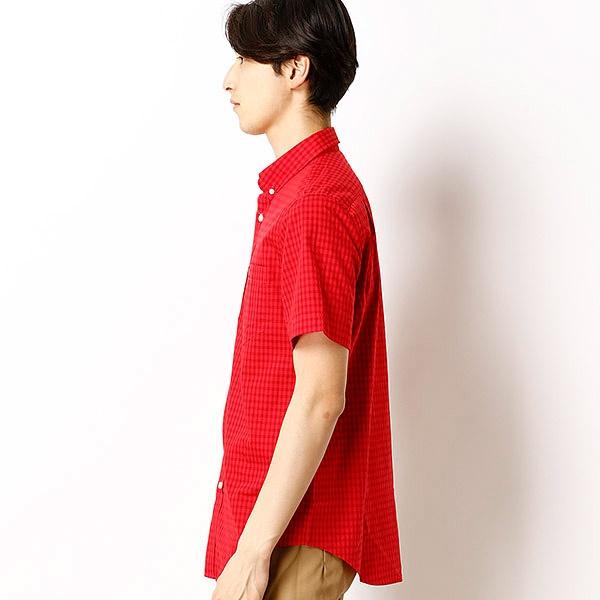 ラコステ チェックシャツ(半袖)