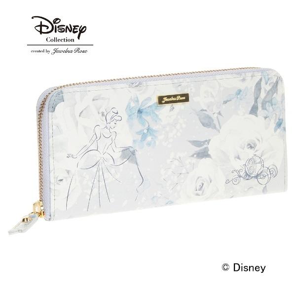 シンデレラ 財布 ジュエルナローズ JewelnaRose /Disney ディズニー プリンセス ウォレット ラウンド長財布, おしゃれ かわいい プレゼント ギフト