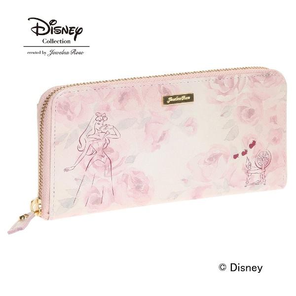 オーロラ姫 財布 ジュエルナローズ JewelnaRose /Disney ディズニー プリンセス ウォレット ラウンド長財布, おしゃれ かわいい プレゼント ギフト