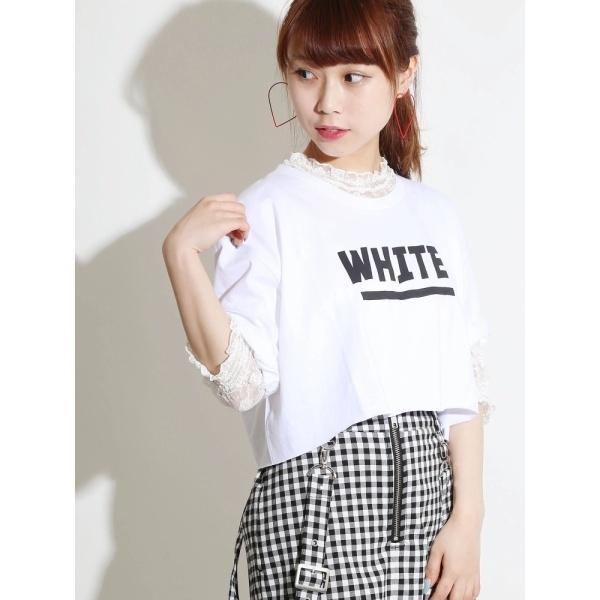 [マルイ]【セール】ウィゴー(WEGO/クロップドロゴ5分袖Tee)/ウィゴー(レディース)(WEGO)