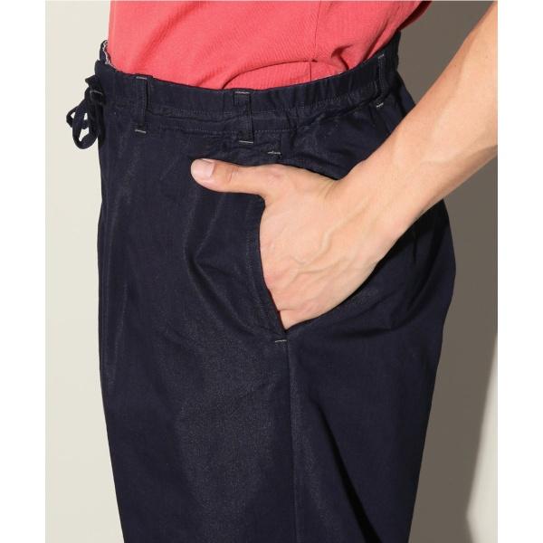 メンズスラックス(INDIGO C/N TWILL Drawstring French Pants)