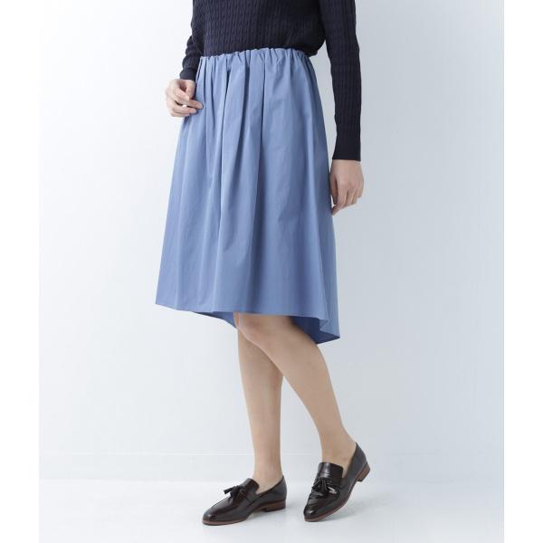 【ストレッチ】テールヘムタックギャザースカート
