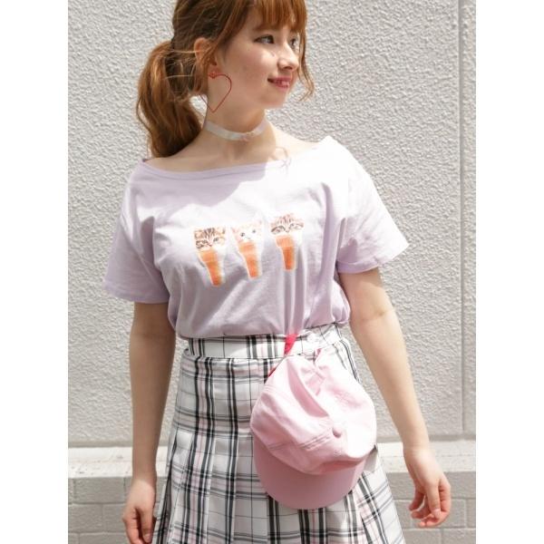[マルイ]【セール】ウィゴー(WEGO/にゃんスクリームオフショルTシャツ)/ウィゴー(レディース)(WEGO)