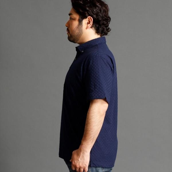 「Mr.Babe Vol.04掲載」市松柄ボタンダウンポロシャツ