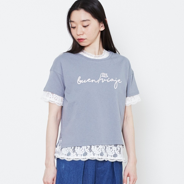 [マルイ]【セール】ロゴTシャツxレーストップスツインセット/プードゥドゥ(POU DOU DOU)