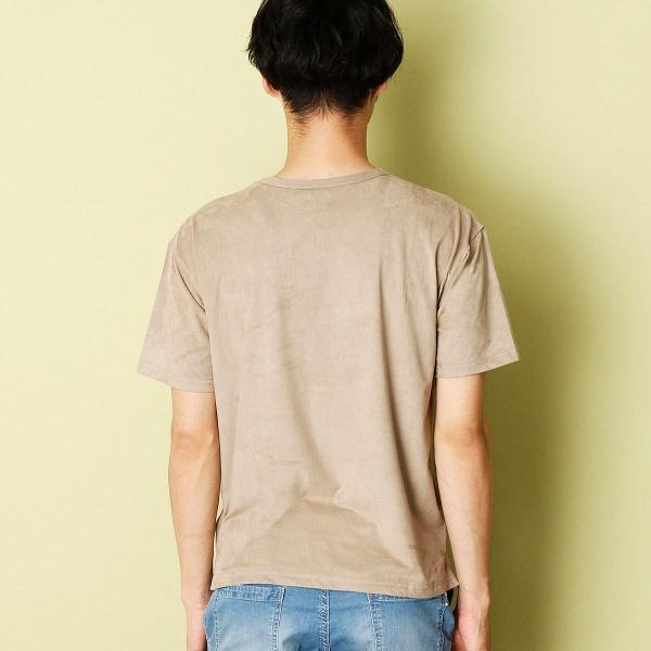 フェイクスウェードTシャツ