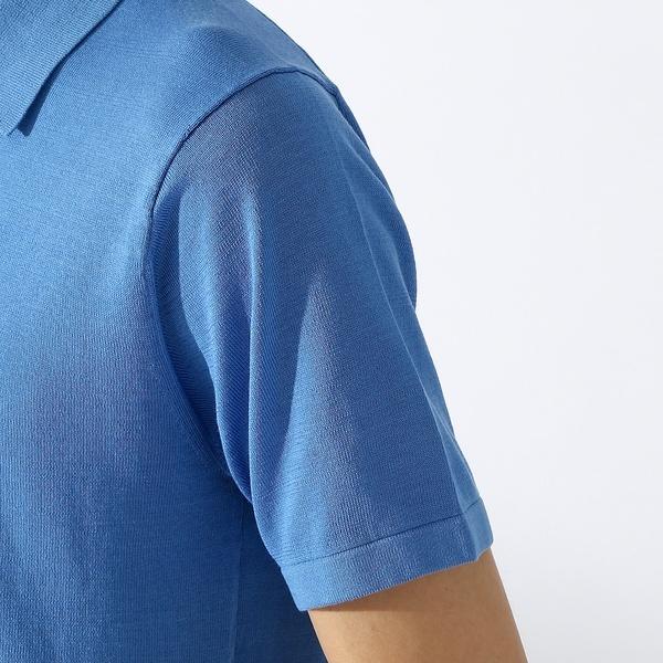 コットンシルクスキッパーポロシャツ