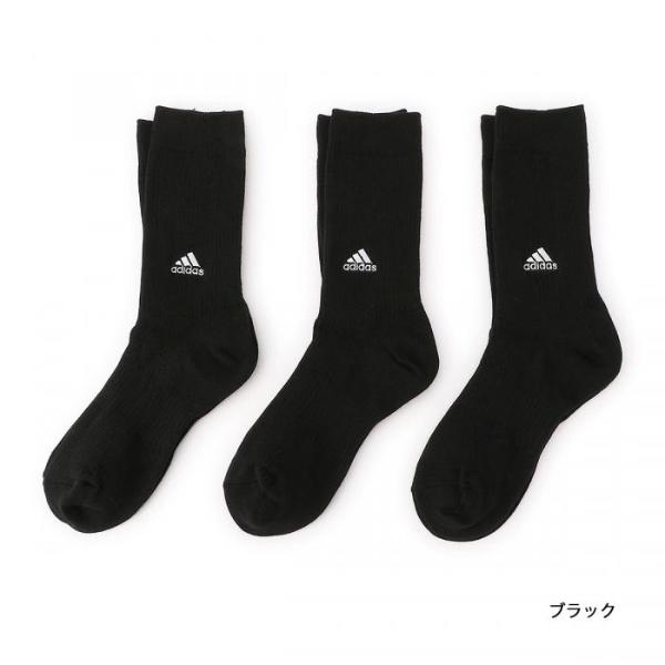 adidas(アディダス) 【キッズ】 3足組 ロゴ刺しゅう入り カジュアル丈ソックス