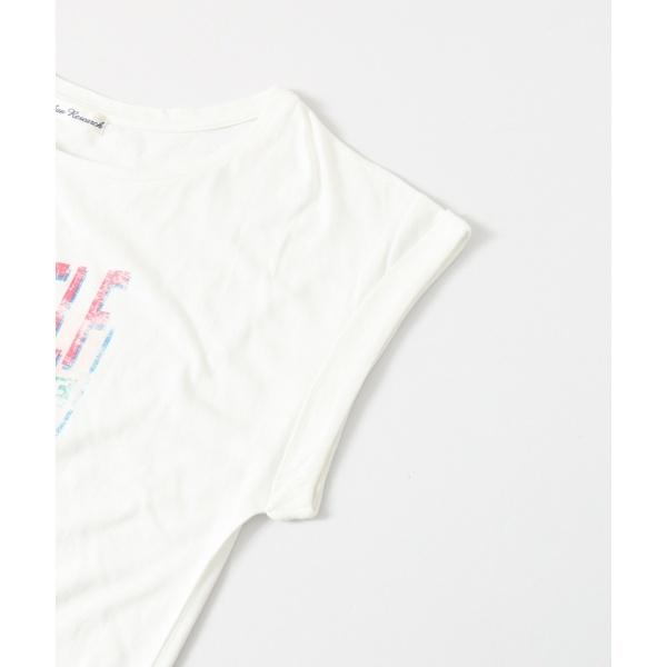 レディスカットソー(ヴィンテージ風プリントTシャツ)