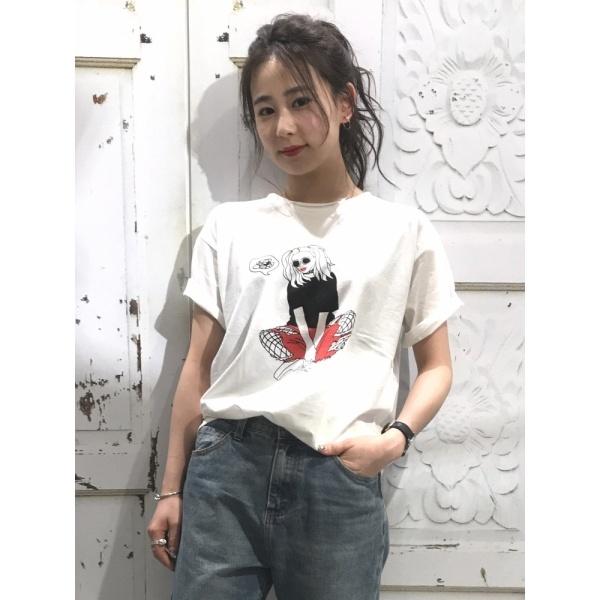[マルイ]【セール】ウィゴー(WEGO/ガールプリントTシャツ)/ウィゴー(レディース)(WEGO)