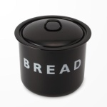 □【LABOUR AND WAIT】K187 BLACK BREAD BIN 28×27cm/ビショップ(Bshop)