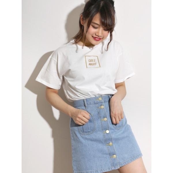 [マルイ]【セール】ウィゴー(WEGO/メタリックロゴプリントTシャツ)/ウィゴー(レディース)(WEGO)