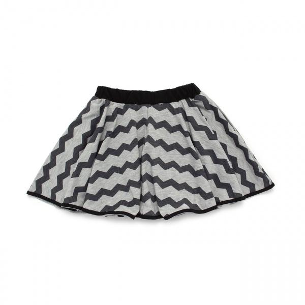 裾パイピングインナーパンツ付きスカート