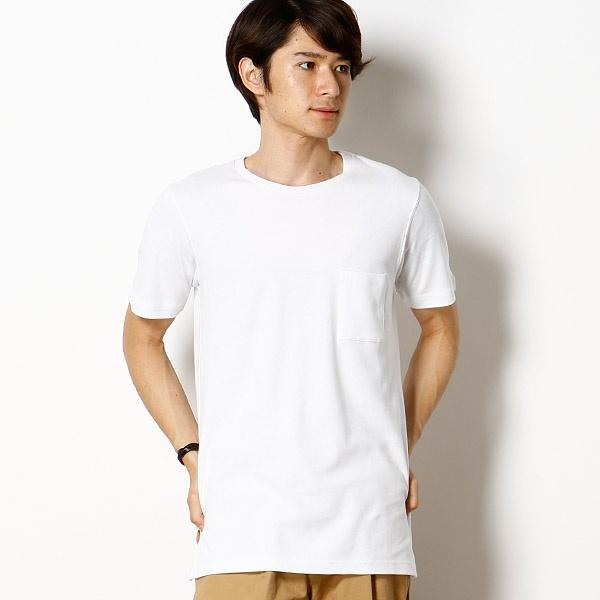 【ロング丈ポケットTシャツ[キシリトール加工】