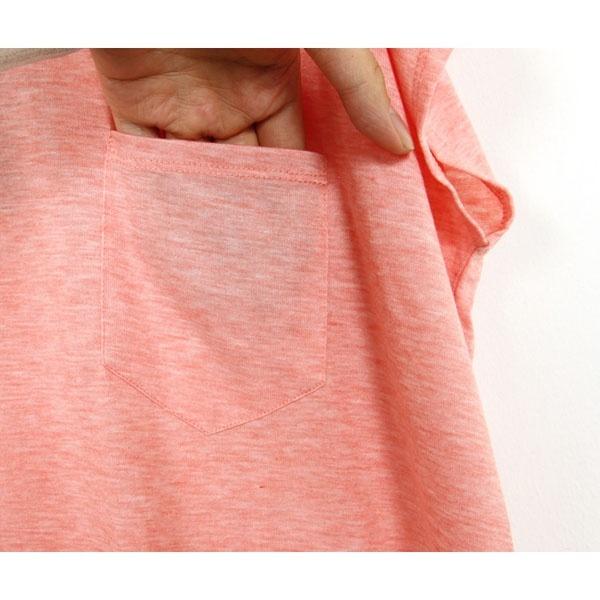 胸ポケット付きTチュニック