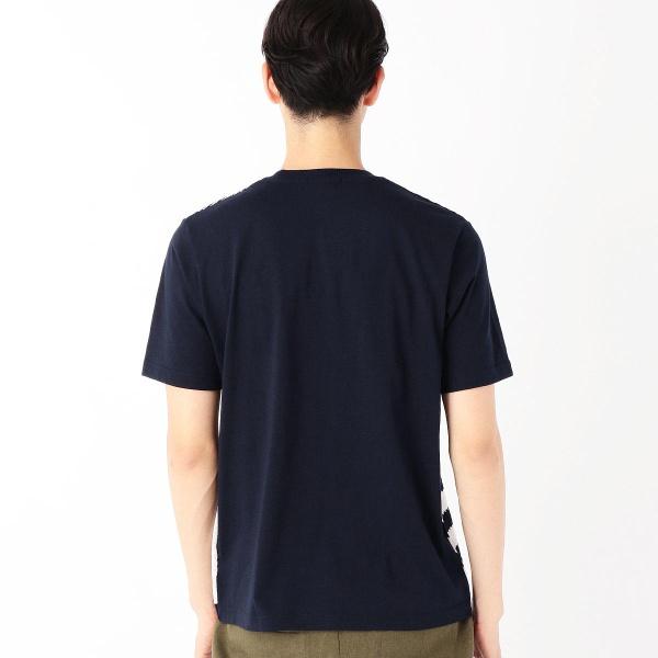 異素材コンビネーションTシャツ<パッチワーク柄>