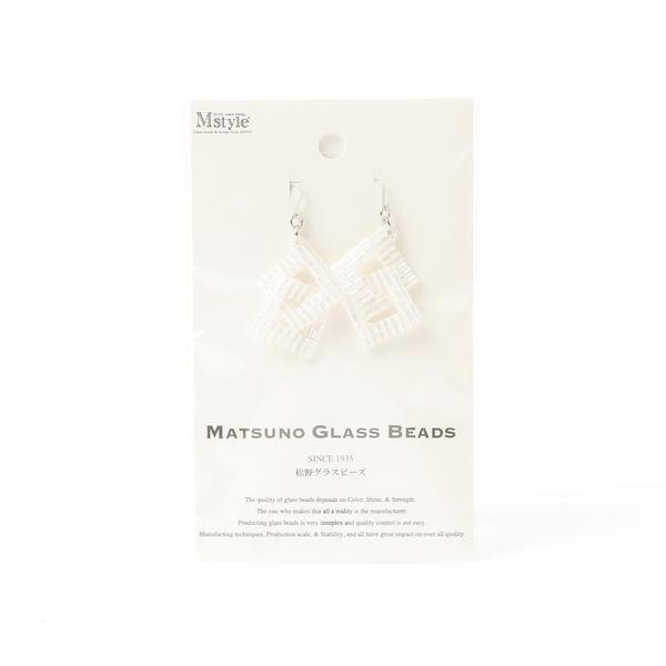 MATSUNO GLASS BEADS / スクエア ビーズ ピアス 2