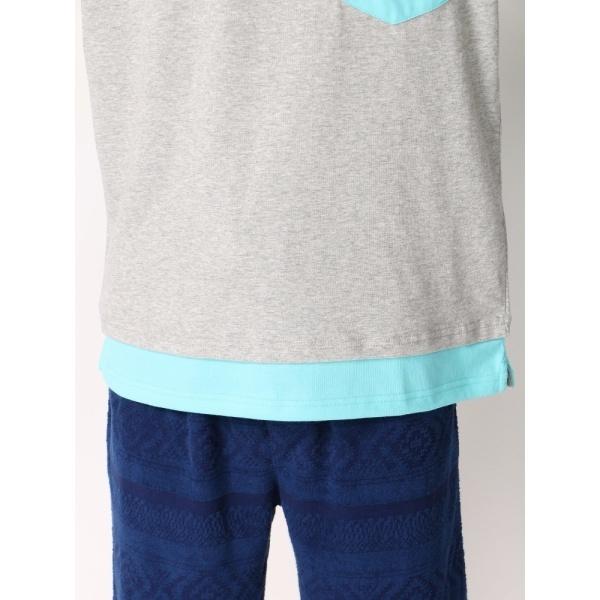 ウィゴー(WEGO/フェイクレイヤードポケットTシャツ)