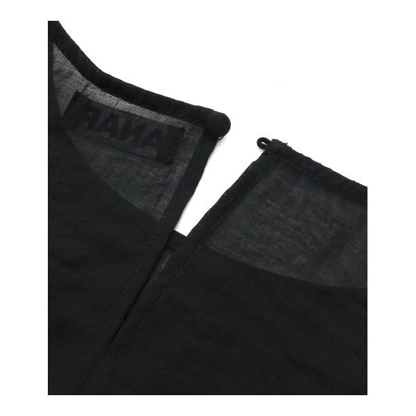 刺繍ベルト付きノースリーブトップス