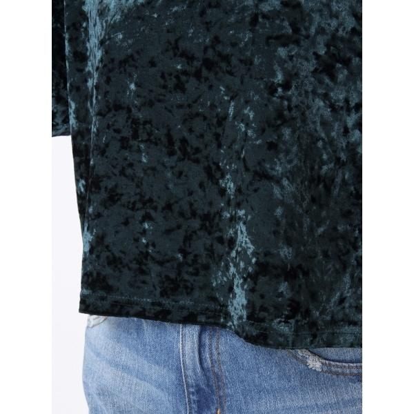 ウィゴー(WEGO/クラッシュベロアTシャツ)