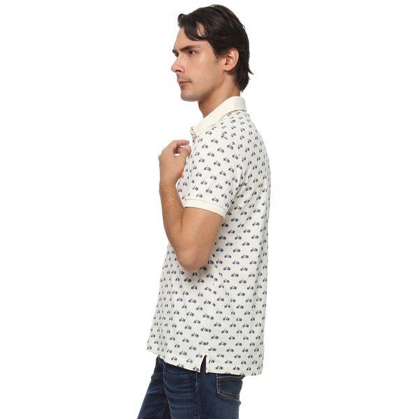 ドット柄ポロシャツ