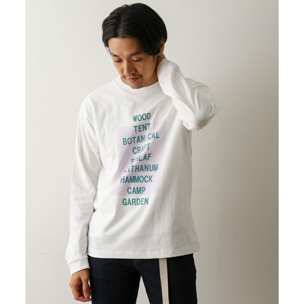 メンズTシャツ(プリントロングスリーブTシャツ)