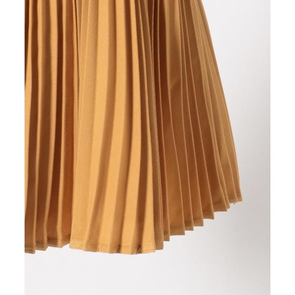 【KIDS】ポリエステルツイル/スウェード スカート