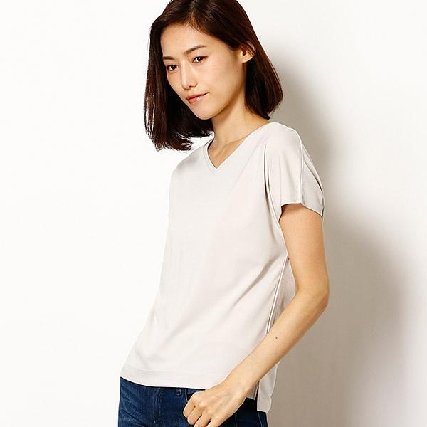 コンフォートストレッチフレンチVネックTシャツ