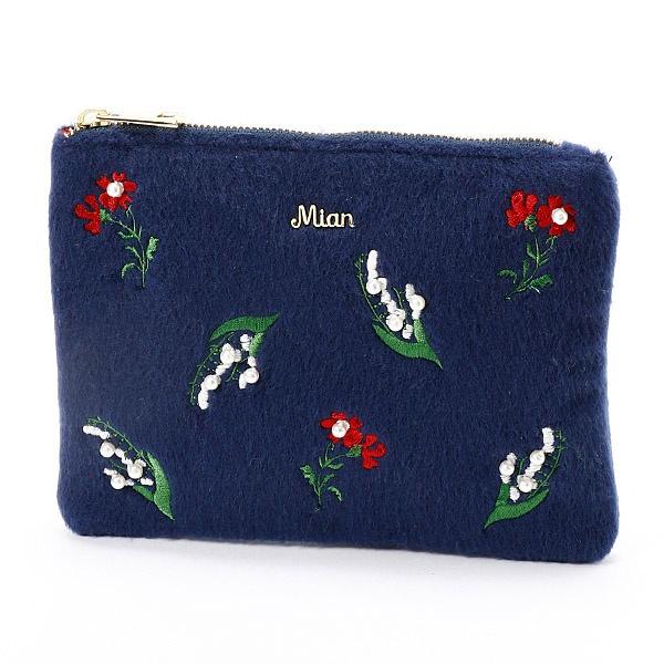 マルイウェブチャネル[マルイ]【セール】花刺繍フラットポーチ/ミアン(MIAN )