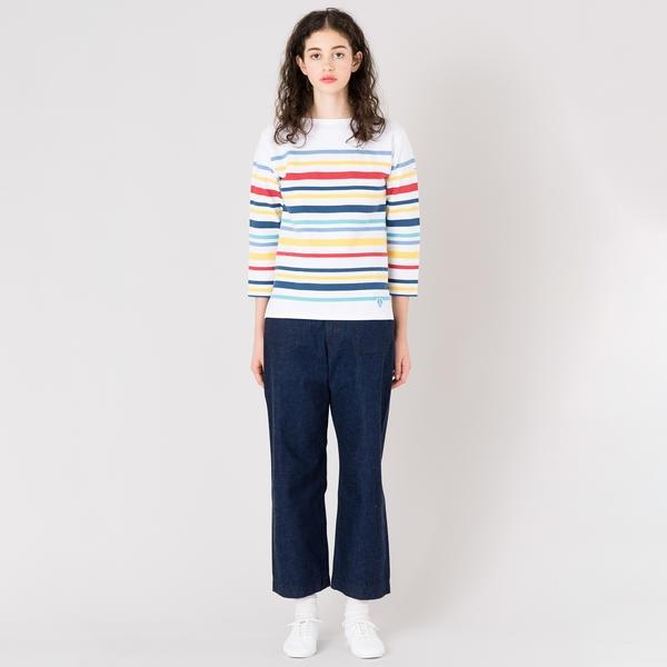 【ORCIVAL】ラッセル フレンチセーラーTシャツ MULTI 1952C WOMEN
