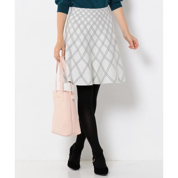 【手洗い可】チェックニット スカート