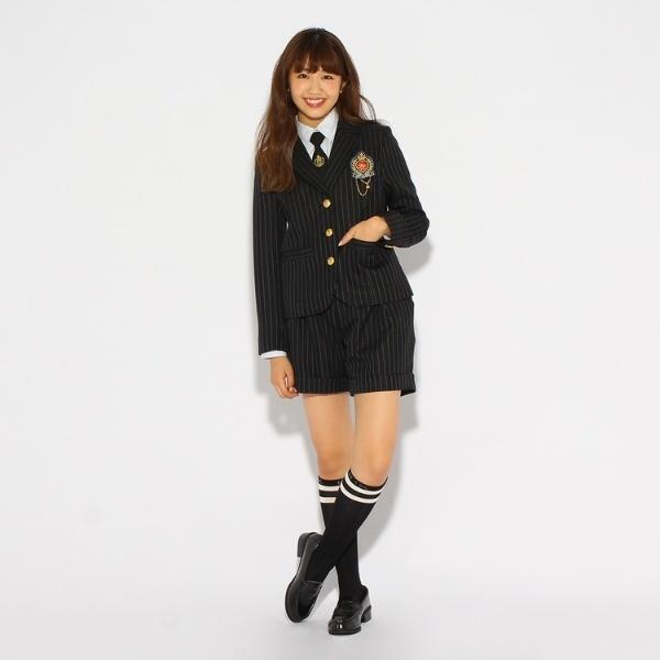 【卒服】エンブレム付きテーラードジャケット