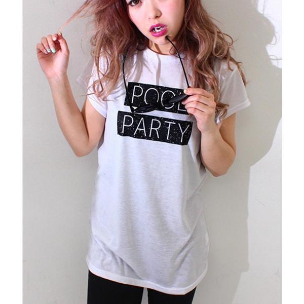 POOL PARTY BOXプリントTシャツ