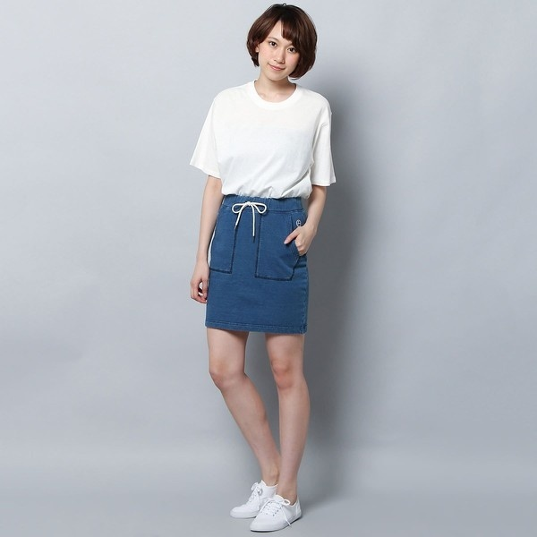 【REYN SPOONER】【WEB限定】インディゴショートスカート ウィメンズ