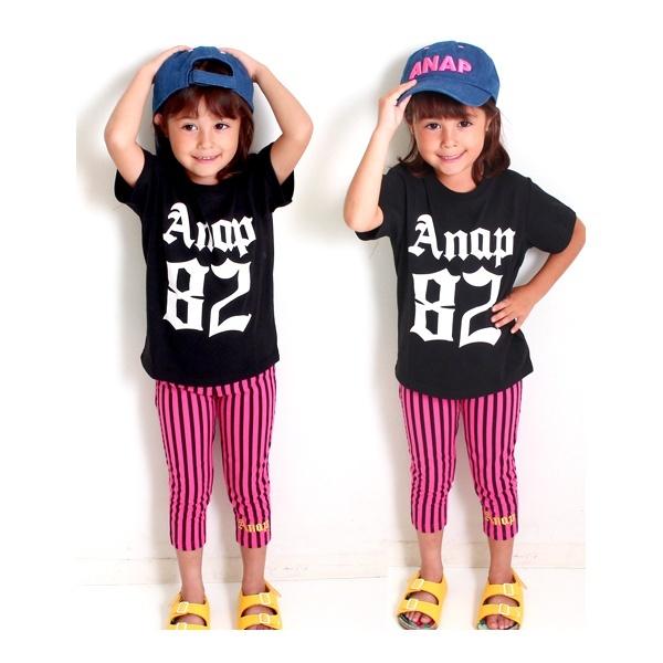 マルイウェブチャネル[マルイ]【セール】ストライプレギンス&ナンバリングTシャツSET-UP/アナップキッズ&ガール(ANAP KIDS&GIRL)