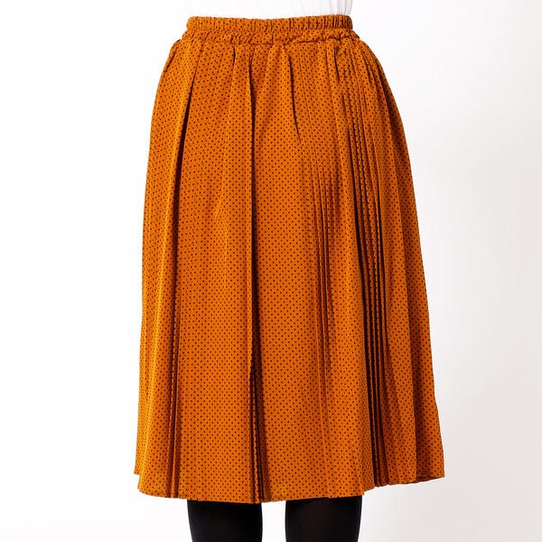 ドットランダムプリーツスカート
