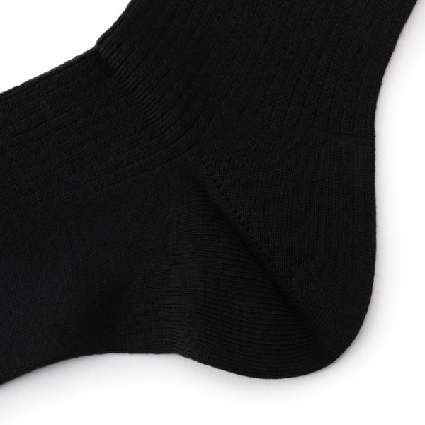 満足 【吸湿発熱】 ずり落ちにくい立体編み 平無地 ビジネス ハイソックス