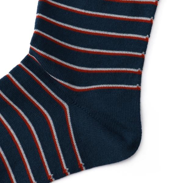 【直営店オリジナル商品 レディースサイズ】 目出鯛(めでたい)靴下 縞模様 クルー丈ソックス
