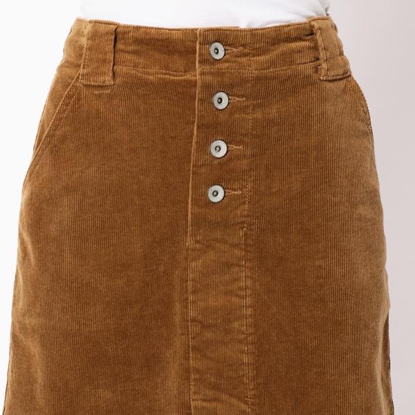 コーデュロイ台形スカート