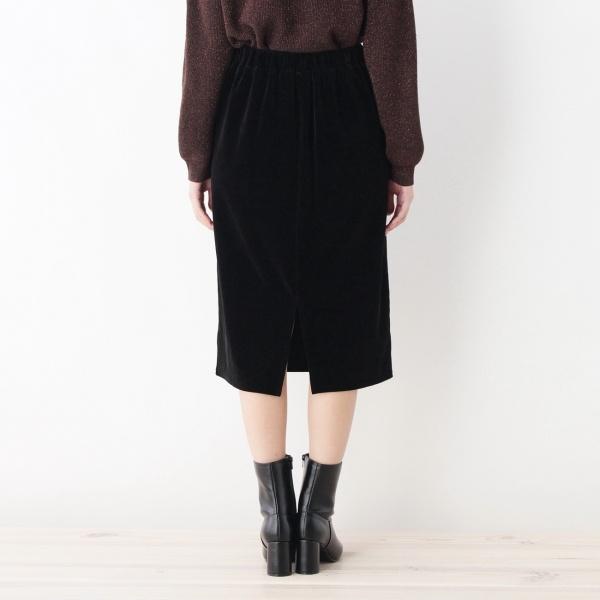 マットベロアストレートスカート