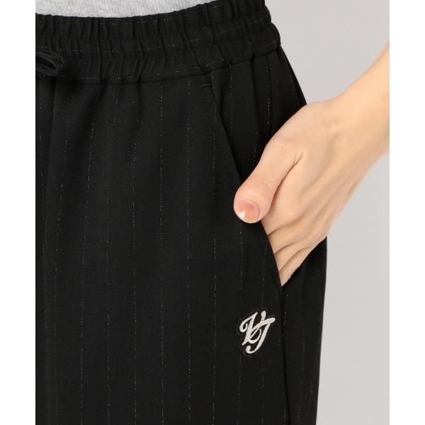 【ストレッチ】【WOMEN】チェルビックラメストライプ パンツ